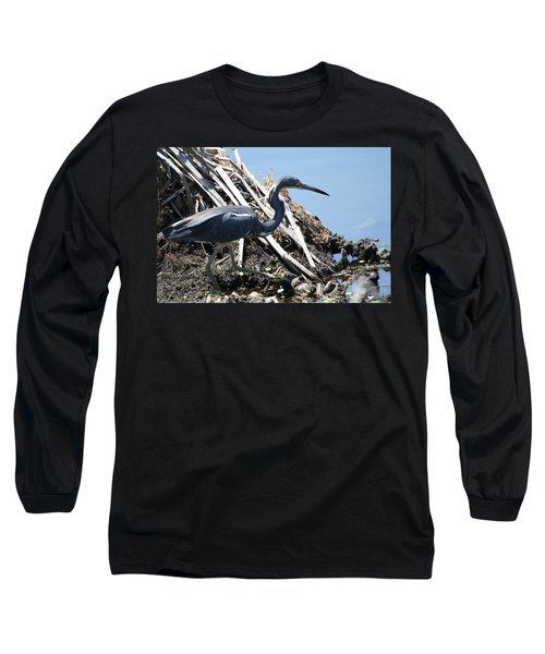 Tri-colored Heron 40312 Long Sleeve T-Shirt