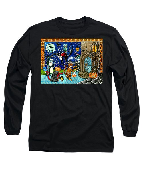 Trick Or Treat Halloween Cats Long Sleeve T-Shirt