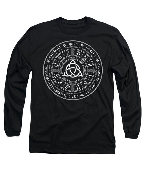 Triquetra Pagan Wheel Of The Year Long Sleeve T-Shirt