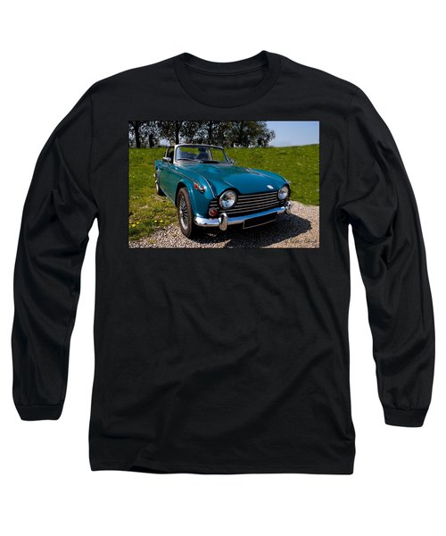 Triumph Tr5 Blue Long Sleeve T-Shirt