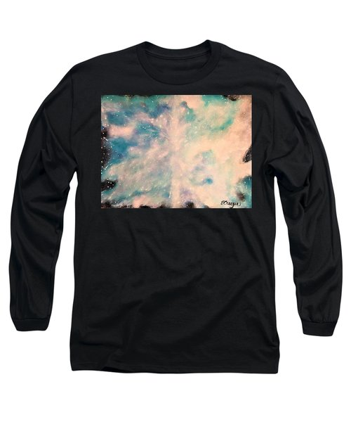 Turquoise Cosmic Cloud Long Sleeve T-Shirt