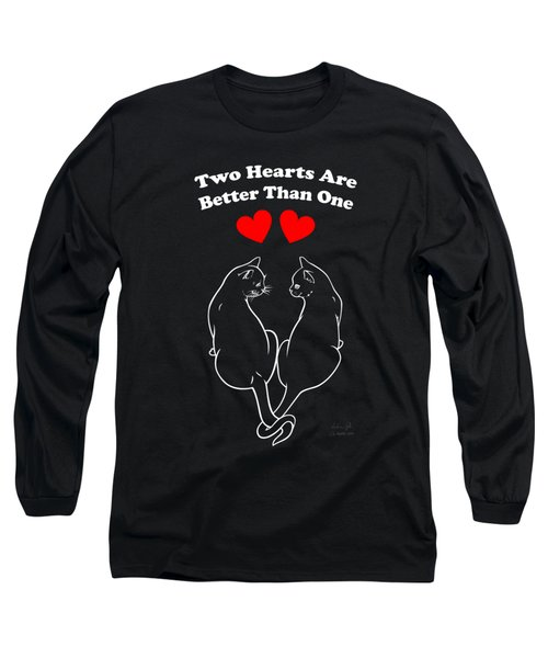 Two Hearts Are Better White Long Sleeve T-Shirt