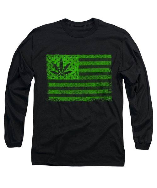 United States Of Cannabis Long Sleeve T-Shirt