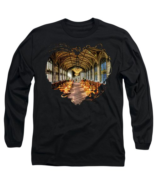 University Of Chicago Harper Library Long Sleeve T-Shirt