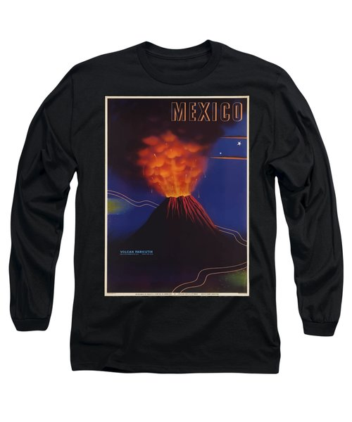 Vintage Travel Poster - Mexico Long Sleeve T-Shirt