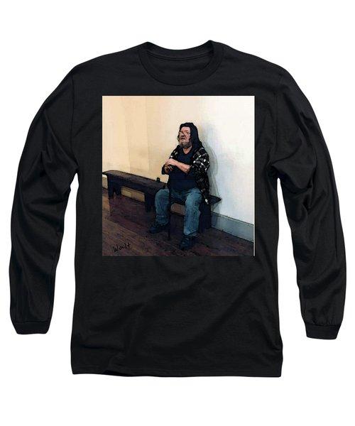 Walt Sitting Long Sleeve T-Shirt