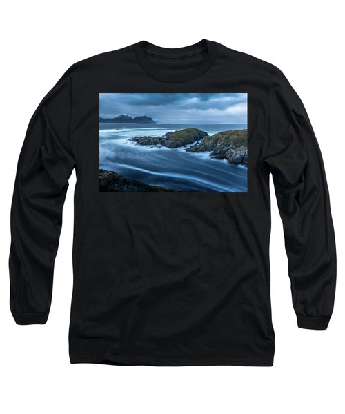 Water Flow At Stormy Sea Long Sleeve T-Shirt