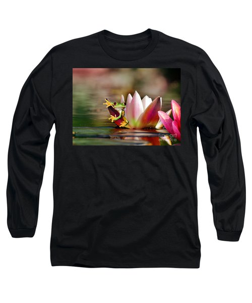 Water Lily And Frog Long Sleeve T-Shirt