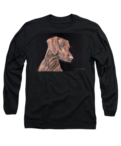 Weimaraner Portrait Long Sleeve T-Shirt