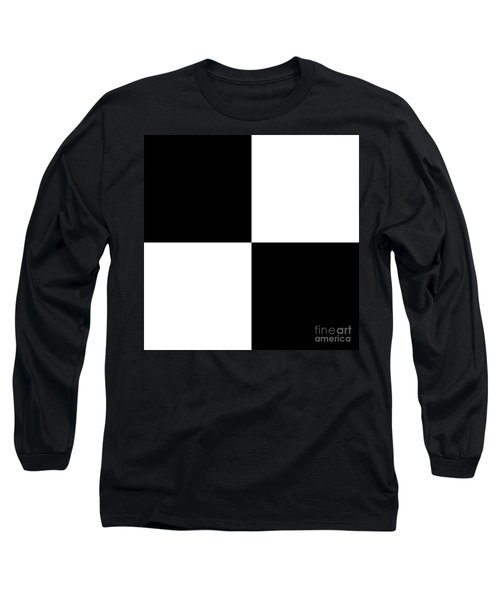 White And Black Squares - Ddh586 Long Sleeve T-Shirt