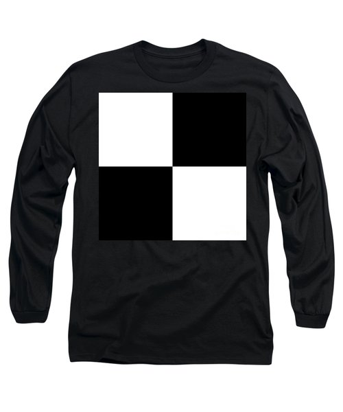 White And Black Squares - Ddh588 Long Sleeve T-Shirt
