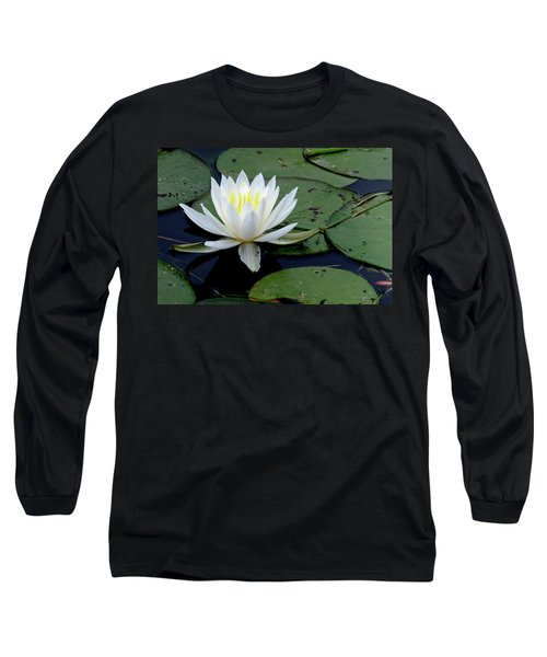 White Water Lilly Long Sleeve T-Shirt