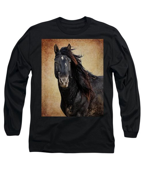 Long Sleeve T-Shirt featuring the photograph Wildly Handsome by Mary Hone