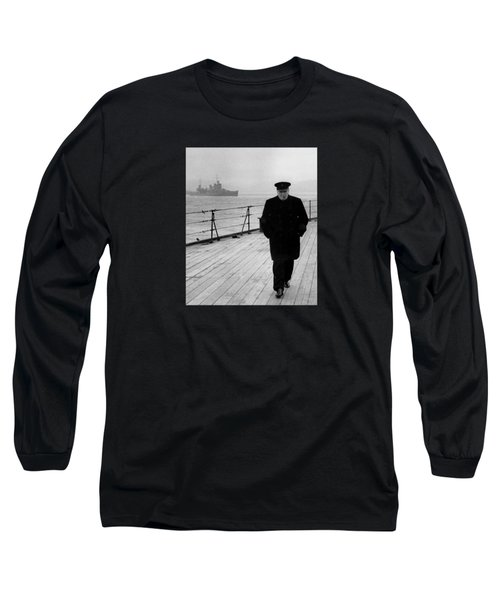 Winston Churchill At Sea Long Sleeve T-Shirt