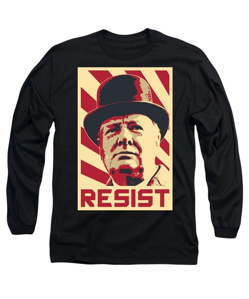 Winston Churchill Resist Long Sleeve T-Shirt
