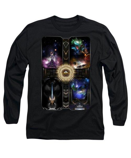 Xzendor7 Quadology Of Fractal Fantasy Art Long Sleeve T-Shirt