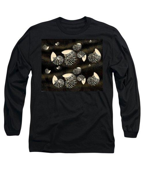 Zebra Pattern Nautilus Shells6 Long Sleeve T-Shirt