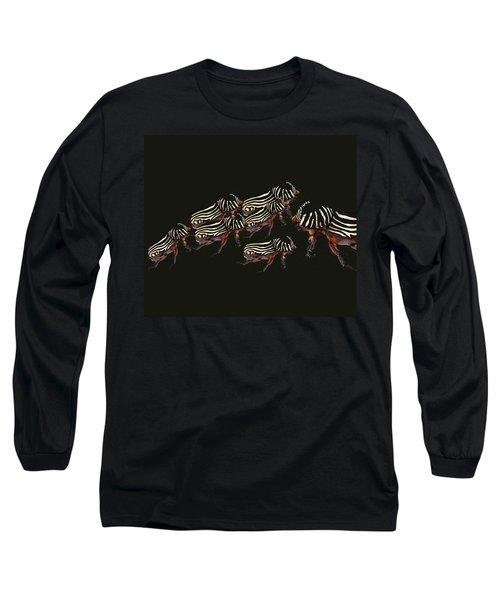 Zebra Pattern Rhinoceros Beetle 3 Long Sleeve T-Shirt