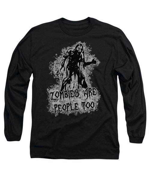 Zombies Are People Too Halloween Vintage Long Sleeve T-Shirt