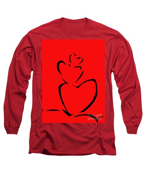 A Stack Of Hearts Long Sleeve T-Shirt