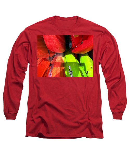 Kayaks Long Sleeve T-Shirt by Michelle Meenawong