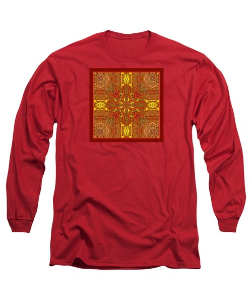 Long Sleeve T-Shirt featuring the photograph  Keltic Cross by I'ina Van Lawick