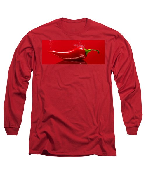 Long Sleeve T-Shirt featuring the photograph  Smoke'n Hot Pepper by Aaron Berg