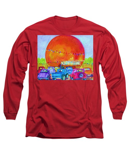 Antique Cars At The Julep Long Sleeve T-Shirt by Carole Spandau