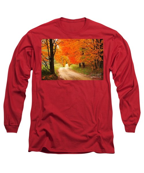 Long Sleeve T-Shirt featuring the photograph Autumn Trail by Terri Gostola