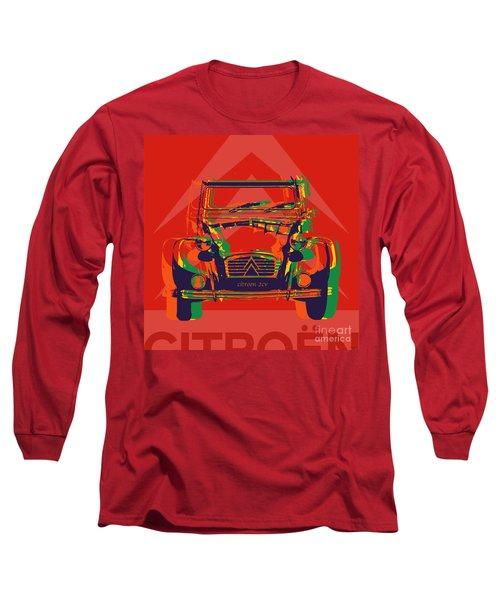 Citroen 2cv Long Sleeve T-Shirt by Jean luc Comperat