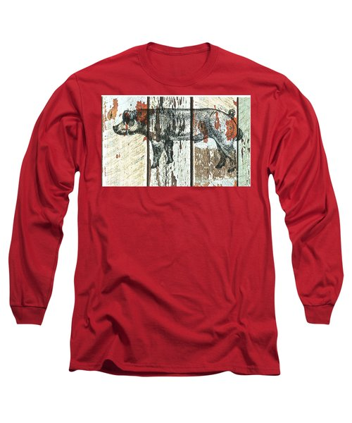 Danish Duroc Boar Long Sleeve T-Shirt by Larry Campbell