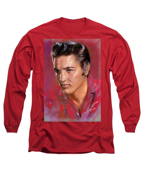 Elvis Presley Long Sleeve T-Shirt by Viola El