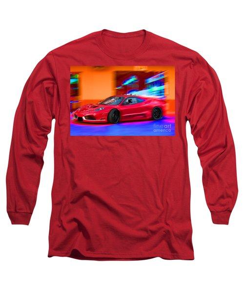 Long Sleeve T-Shirt featuring the photograph Ferrari by Gunter Nezhoda