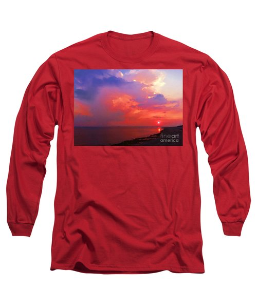 Fire In The Sky Long Sleeve T-Shirt by Holly Martinson