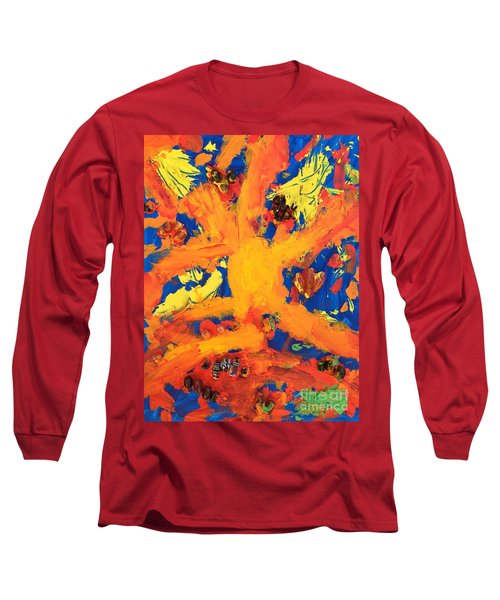 Long Sleeve T-Shirt featuring the mixed media Impact by Donald J Ryker III