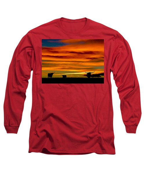 Longhorn Sunset Long Sleeve T-Shirt