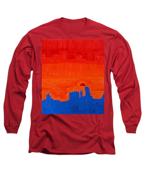 Monument Valley Original Painting Long Sleeve T-Shirt by Sol Luckman