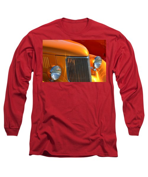 Orange Hotrod Long Sleeve T-Shirt