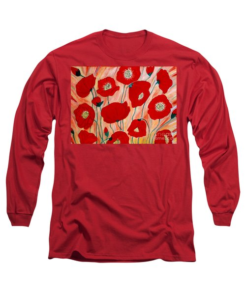 Poppies. Inspirations Collection. Long Sleeve T-Shirt
