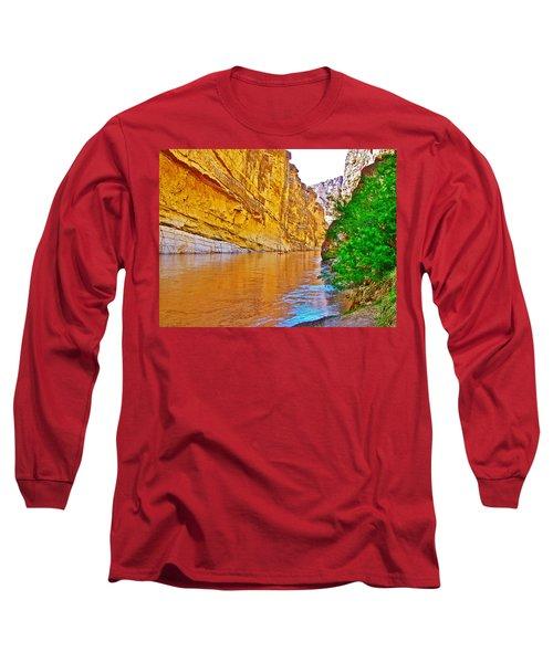Rafting In Santa Elena Canyon In Big Bend National Park-texas Long Sleeve T-Shirt