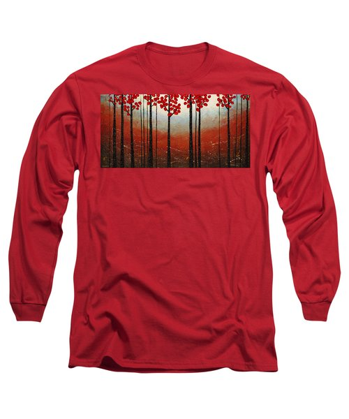 Red Blossom Long Sleeve T-Shirt