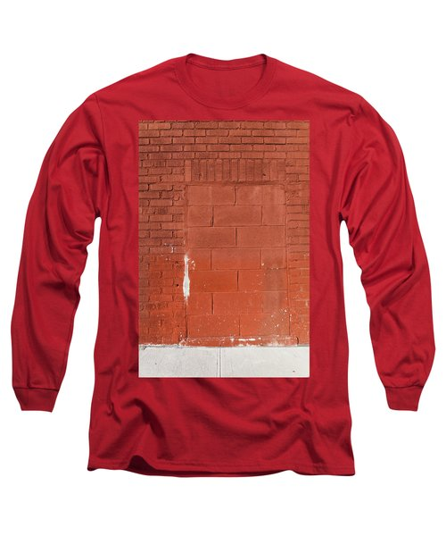 Red Wall With Immured Door Long Sleeve T-Shirt