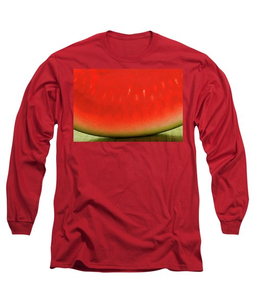 Slice Of Watermelon (detail) Long Sleeve T-Shirt