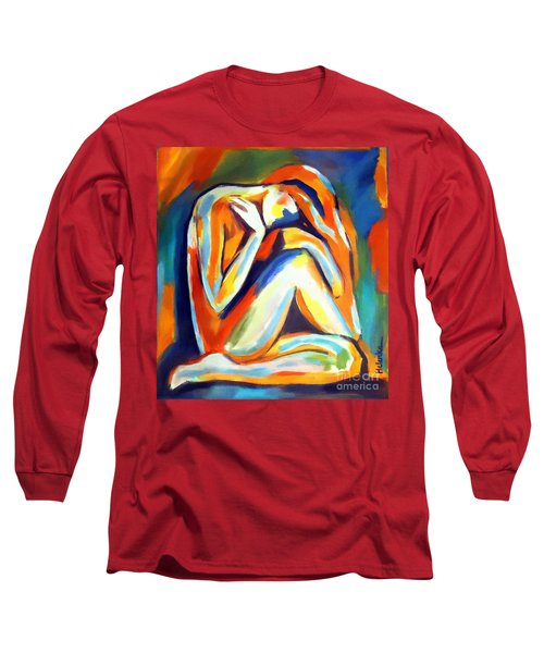 Long Sleeve T-Shirt featuring the painting Solitude by Helena Wierzbicki