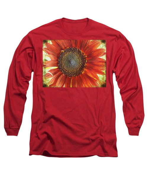 Sunflower Long Sleeve T-Shirt by Kathy Bassett