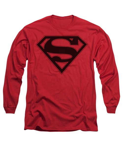 Superman - Red And Black Shield Long Sleeve T-Shirt