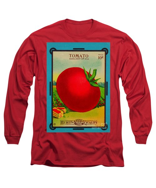 Tomato Seed Package. Antique. 100 Years Old Long Sleeve T-Shirt