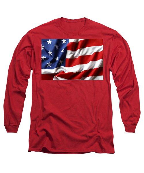 Usa Flag No.52 Long Sleeve T-Shirt