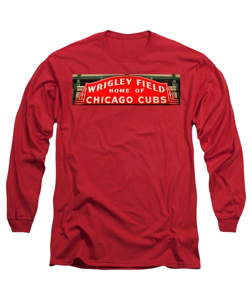 Wrigley Field Sign Long Sleeve T-Shirt