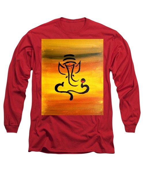11 Nandana- Son Of Lord Shiva Long Sleeve T-Shirt by Kruti Shah